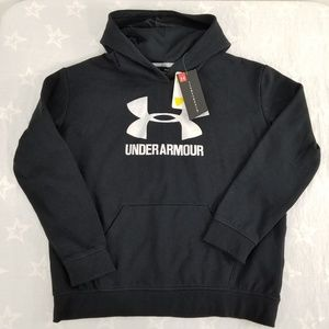 Under Armour Girls Black Silver Logo